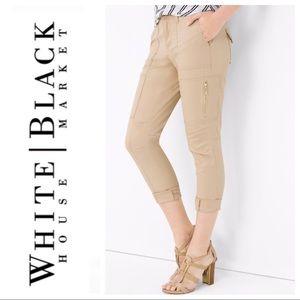 White House Black Market Beige Utility Pants
